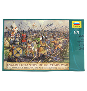 English Infantry of 100 Years War (Scale 1:72)